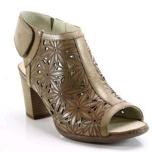 🌻JOSEF SEIBEL Brown Leather Sandals sz 8.5